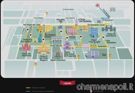 mappa festival del bacio napoli