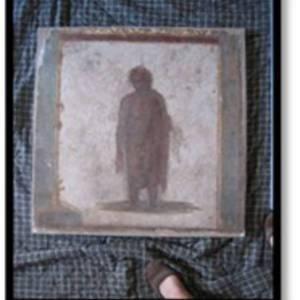 Affresco raffigurante una figura maschile