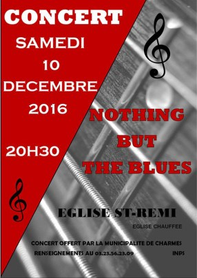 Concert-annuel,-Nothing-but-the-Blues.-affiche