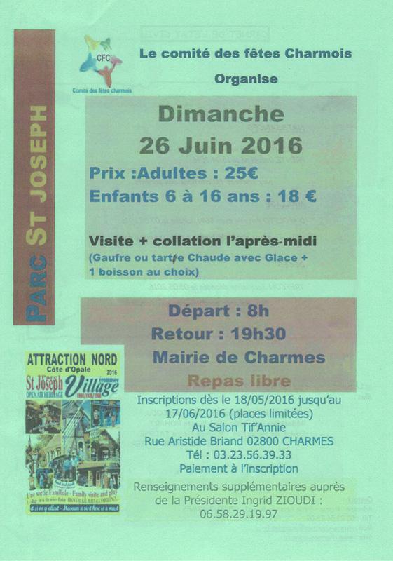 Sortie au parc Saint-Joseph Dimanche 26 juin 2016