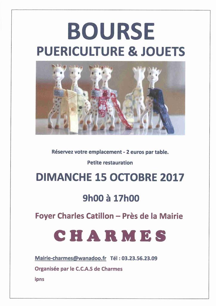 Bourse puériculture et jouets – 15 octobre 2017