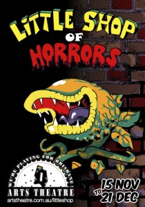 Little Shop of Horrors Arts Theatre poster