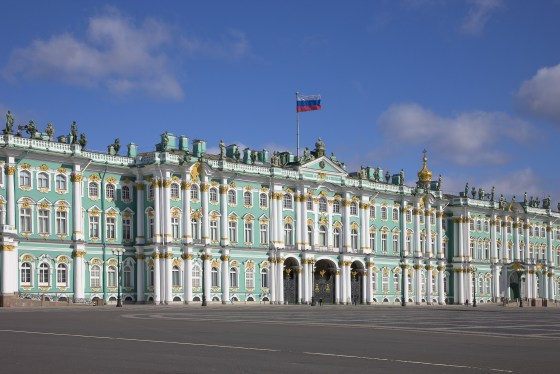Hermitage Museum, the Winter Palace in Summer from Palace Square, St Petersburg Photo: Pavel Demidov EXHI031470