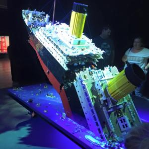 Lego Model Of The Sinking Titanic Brickman
