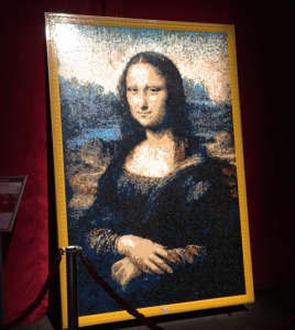 Lego Model of Mona Lisa