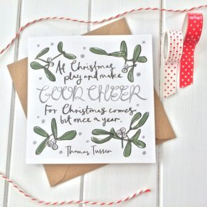 Christmas Gift Card With Literary Quote