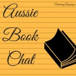 Aussie Book Chat logo for blog link up shows an open book