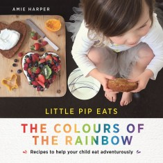 Cover image Little Pip - Child eating colourful food.