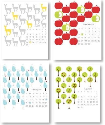 Kalender für 2009 - © pspapergoods