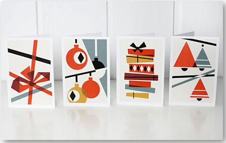 Candy cane Weihnachtskarten - © Darling Clementine