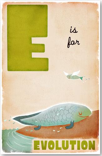 E is for Evolution - © D. P. Sullivan