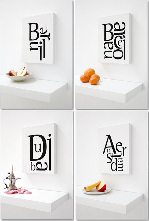 Typographie für die Wand - © Granada Design®