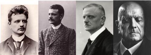 Jean Sibelius in verschiedenen Lebensaltern