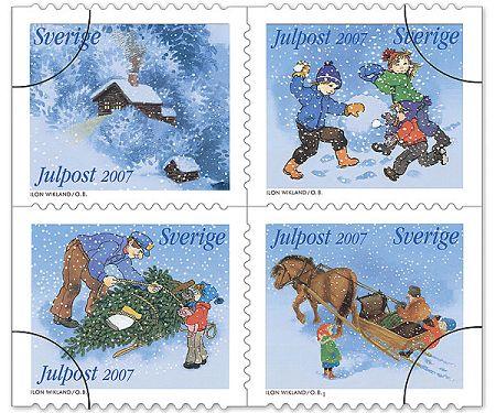 Weihnachtsbriefmarken Schweden 2007