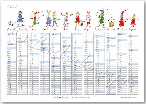 Kalender Happy Day 2012 - © Ladedesign
