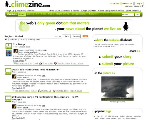 Screenshot climezine