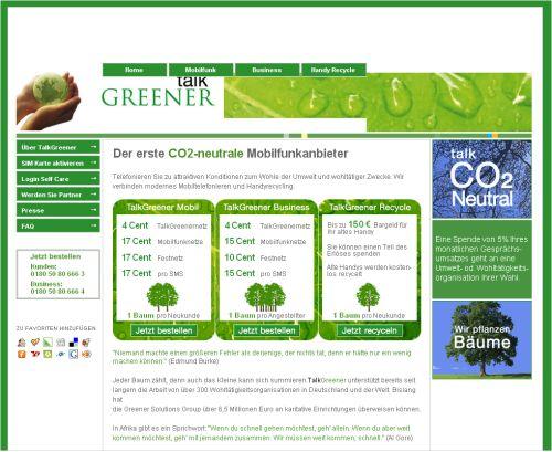 Screenshot Talk Greener