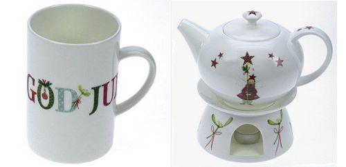 Becher God Jul und Teekanne Merry Christmas - © acufactum