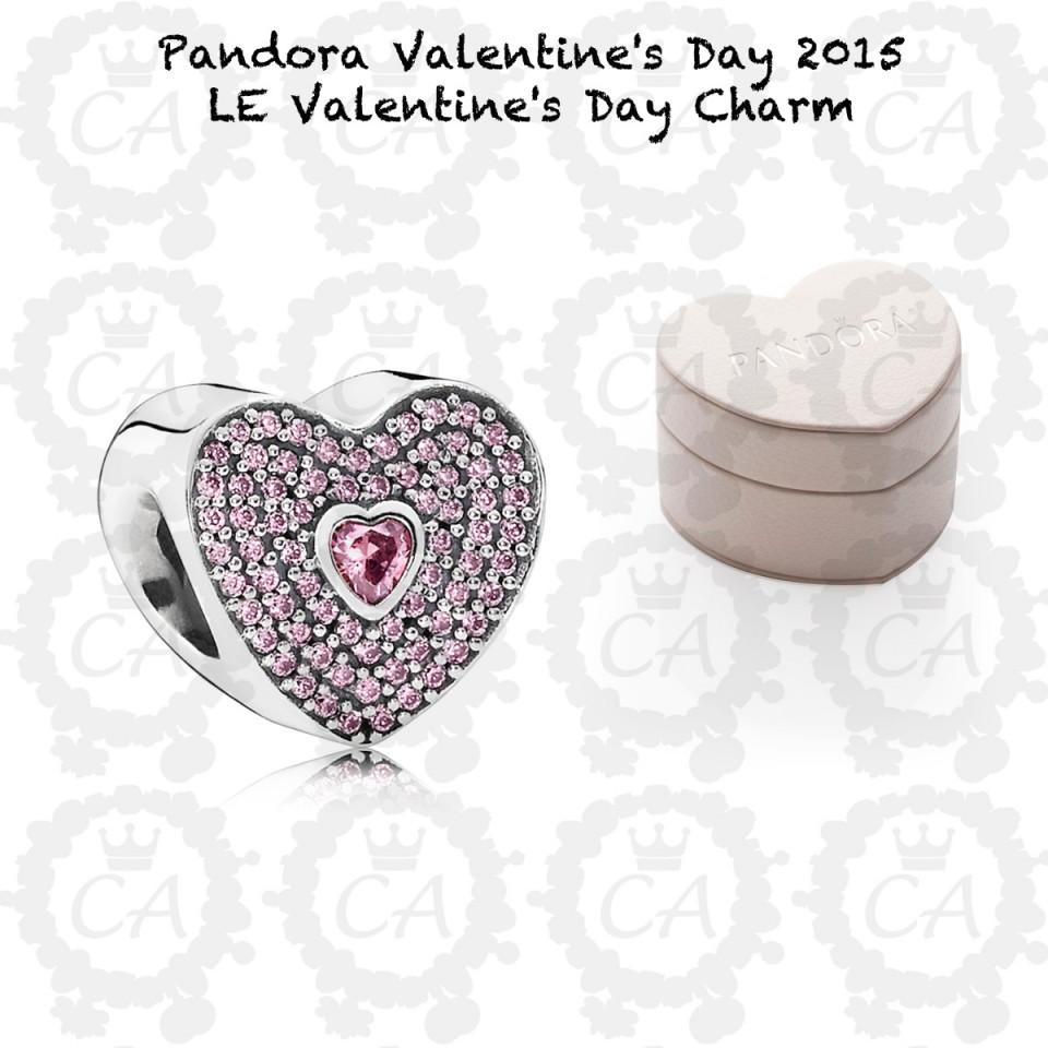 Pandora LE Valentines Day Charm 2015 Charms Addict