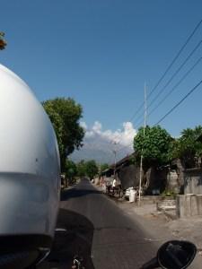 A far away glance of Mount Agung