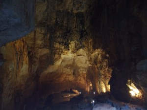 The sparsely lit cave was indeed beautiful