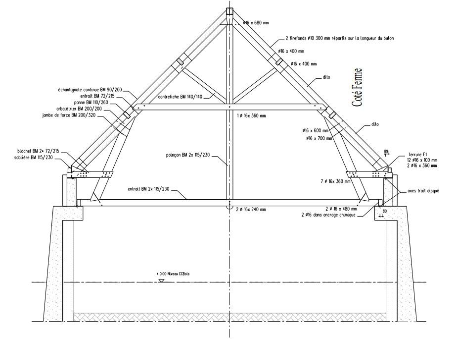 Etude De Plans Charpente Construction Bois