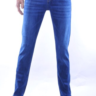 Milyoner trendy heren basic stretch jeans, M453 Blauw