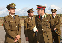 Gaddafi's son watched Zapad-2009 military exercise in Belarus (Photo)