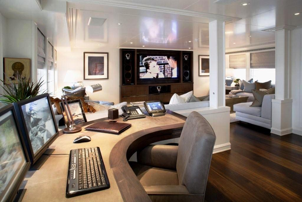 Celestial Hope Media Room Luxury Yacht Browser By