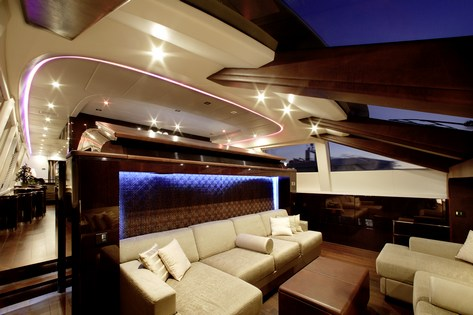 MY TOY Seating Area Next To Helm Luxury Yacht Browser By CHARTERWORLD Superyacht Charter