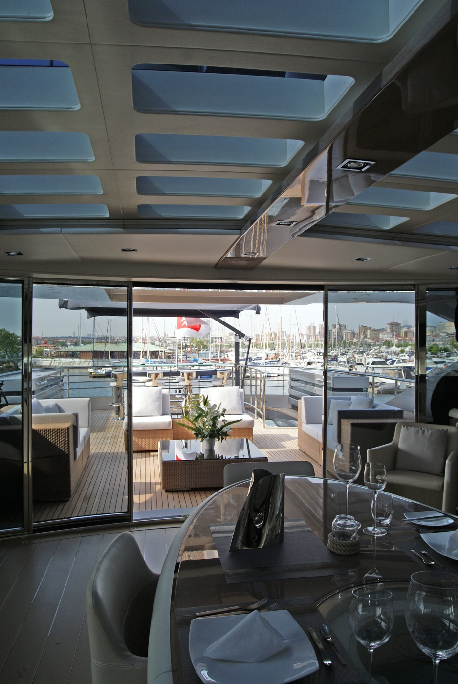 Motor Yacht NOOR Upper Dining Yacht Charter Amp Superyacht