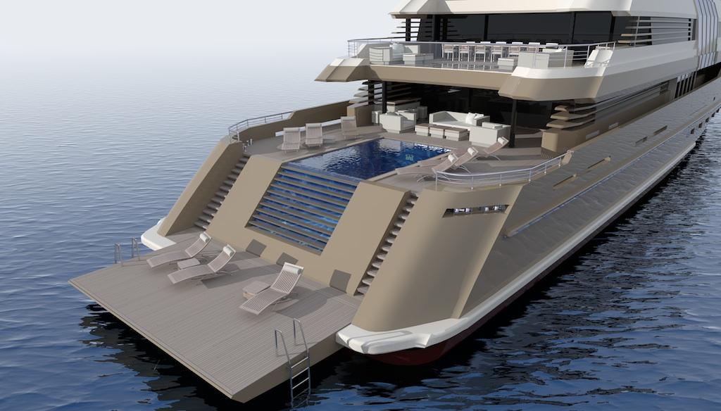 Detailed View Of The Soraya 70 Swimming Pool Aft Yacht Charter Amp Superyacht News
