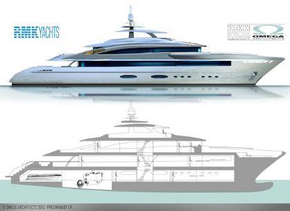 RMK 50 Superyacht design by Omega Architects