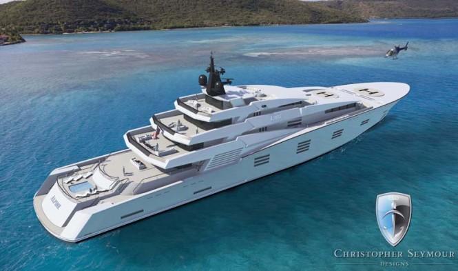 122m Explorer Superyacht ALPINE by Chris Seymour Designs