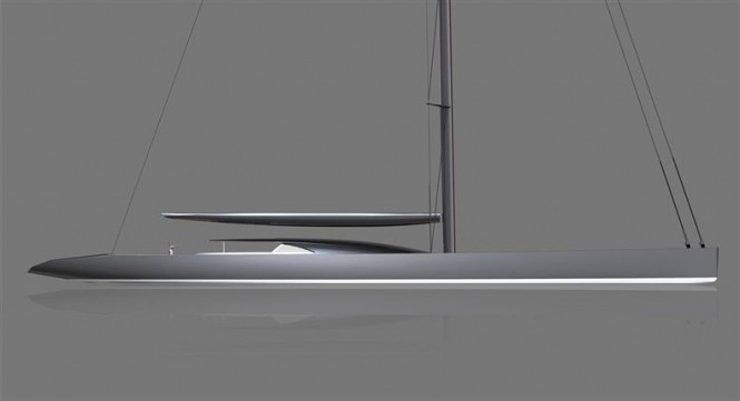 65m sailing yacht P1409 by Dubois