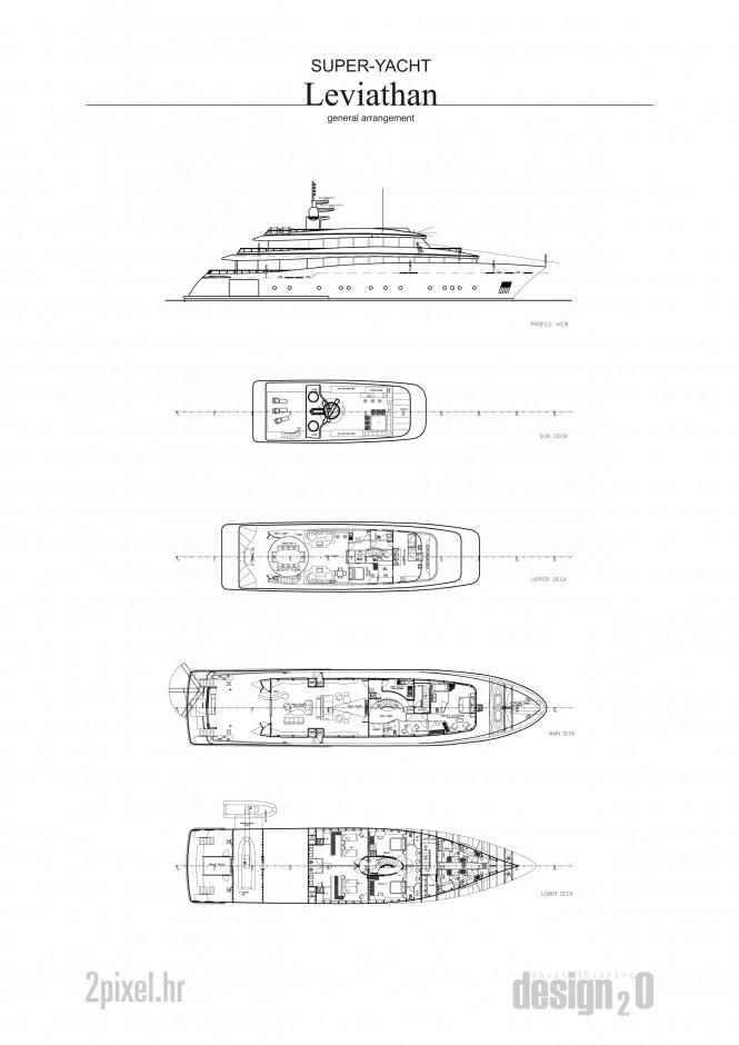 Yacht Leviathan Layout