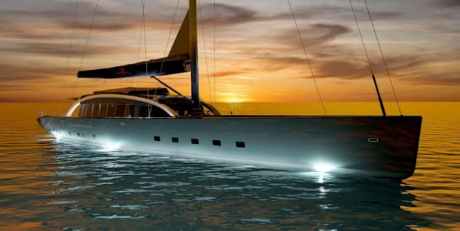 Arzana Navi 48.4m Sailing yacht by Tripp Design