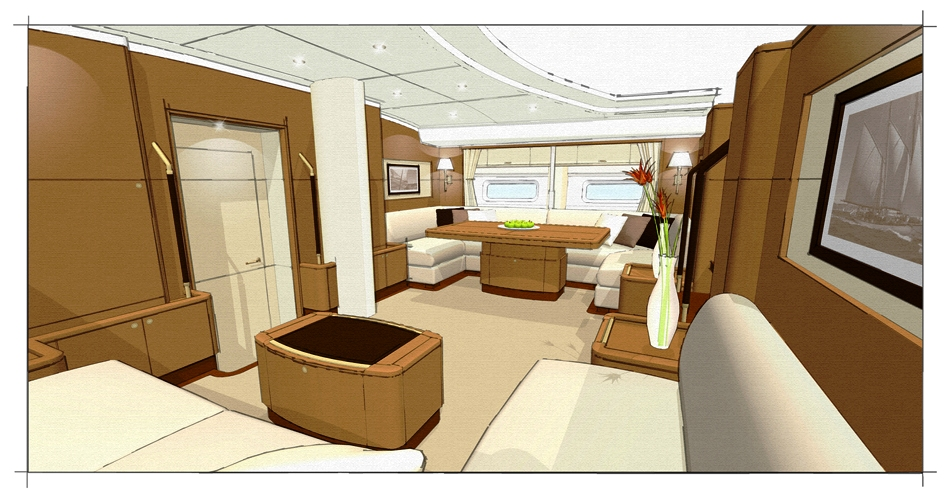 The Interior Design Of Sailing Yacht ANTARES III Is By Rhoades Yacht Design Yacht Charter