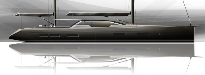 Profile of the Tony Castro designed 35 m yacht
