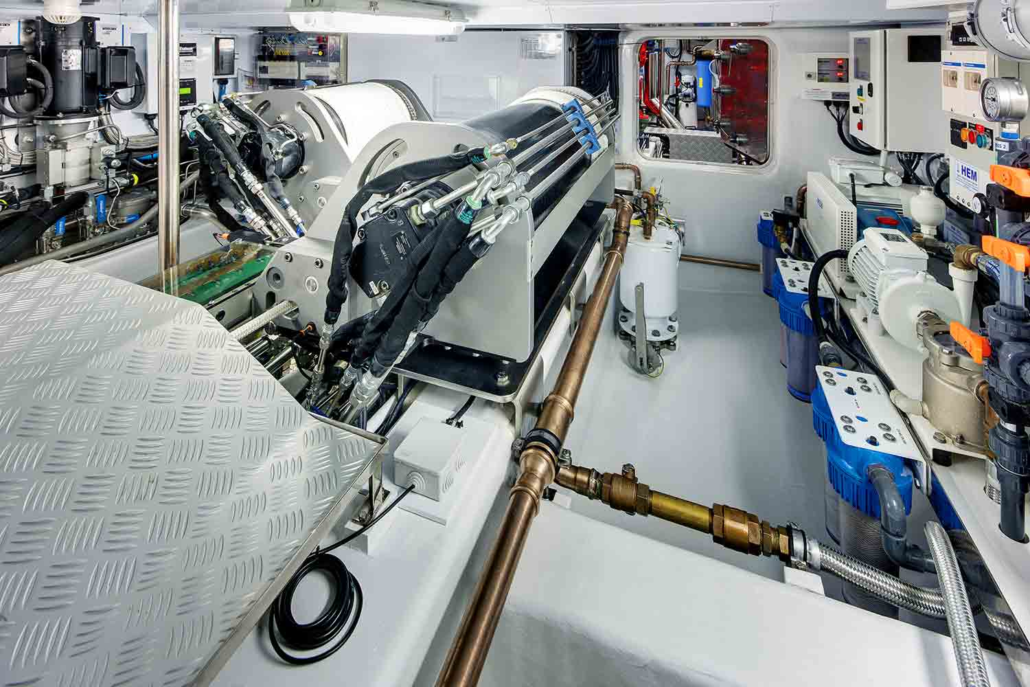 Sailing Yacht Antares III Engine Room Yacht Charter