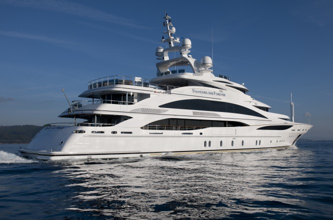 61m Charter Yacht Diamonds Are Forever Launched By Benetti