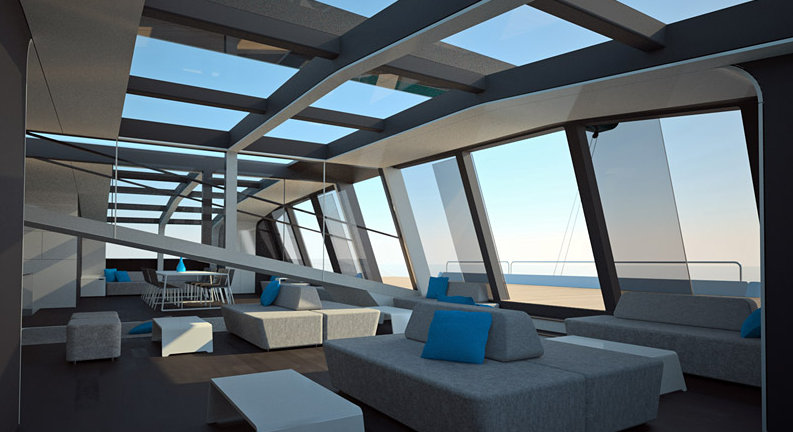 ONE FIFTY Superyacht Interior Yacht Charter