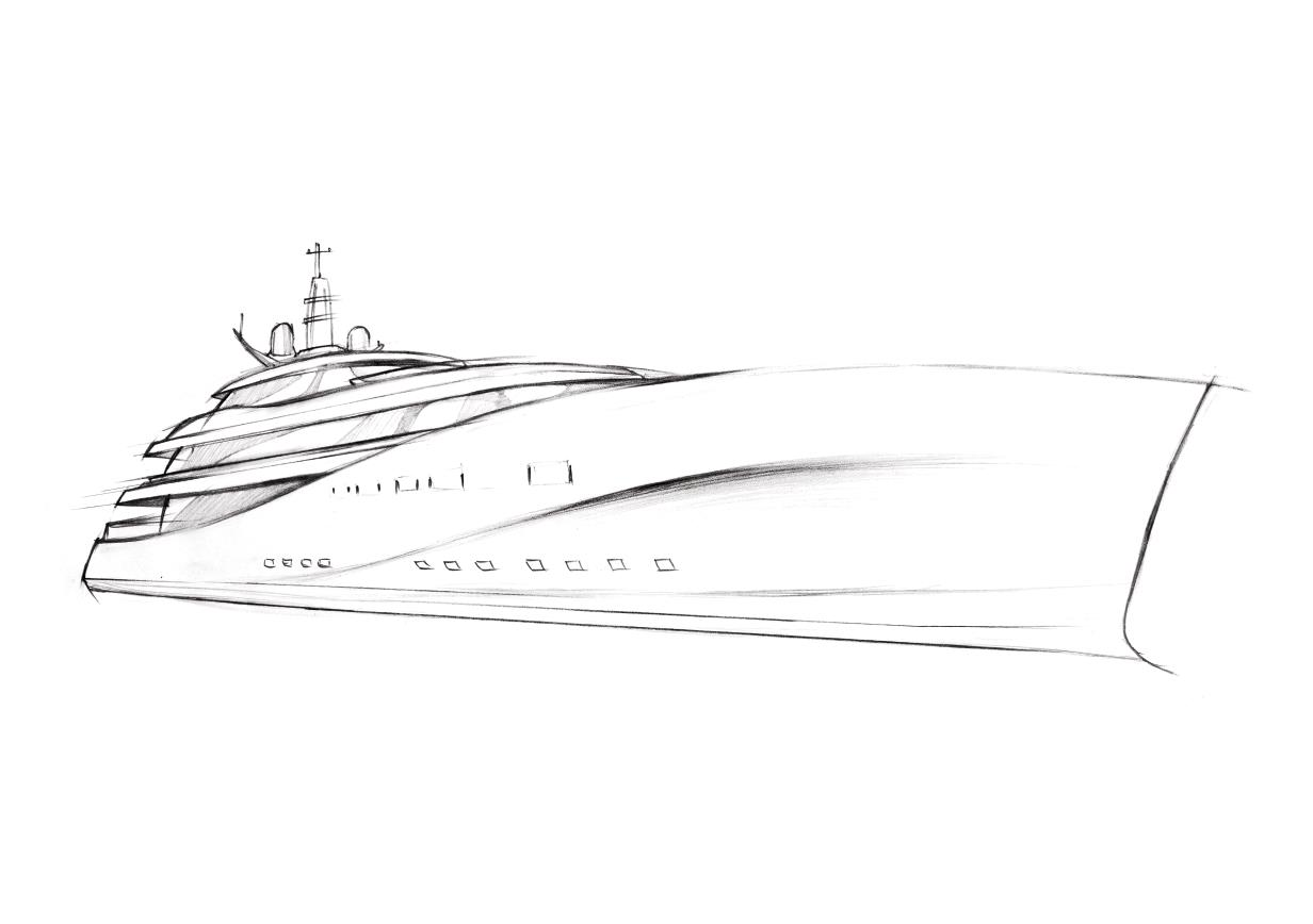 How To Draw A Mega Yacht