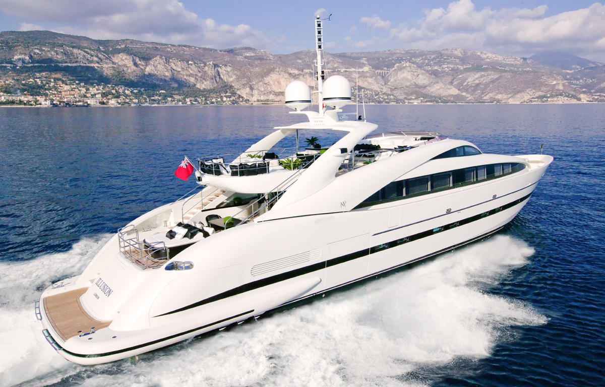 Motor Yacht Sealyon Ex Illusion ISA 120 Yacht Luxury