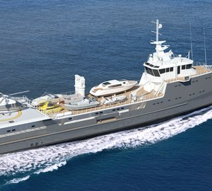 67m Amels SEA AXE 6711 Superyacht Support Vessel GARON To