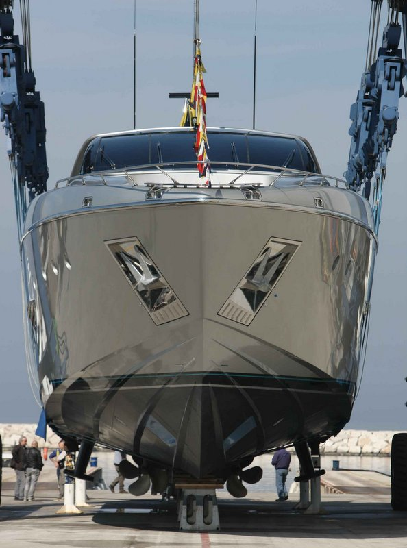 Technical Launch Of Riva 122 Motor Yacht MYTHOS At CRN