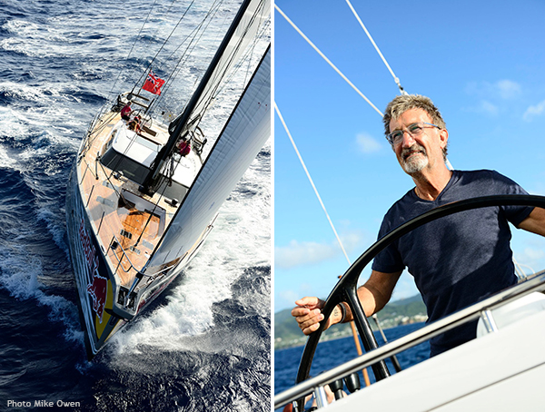 Oyster 885 Yacht LUSH And Eddie Jordan Helming The Yacht
