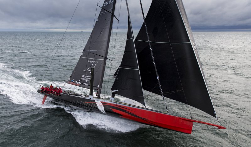 100 Foot Racing Yacht COMANCHE Under Sail Yacht Charter