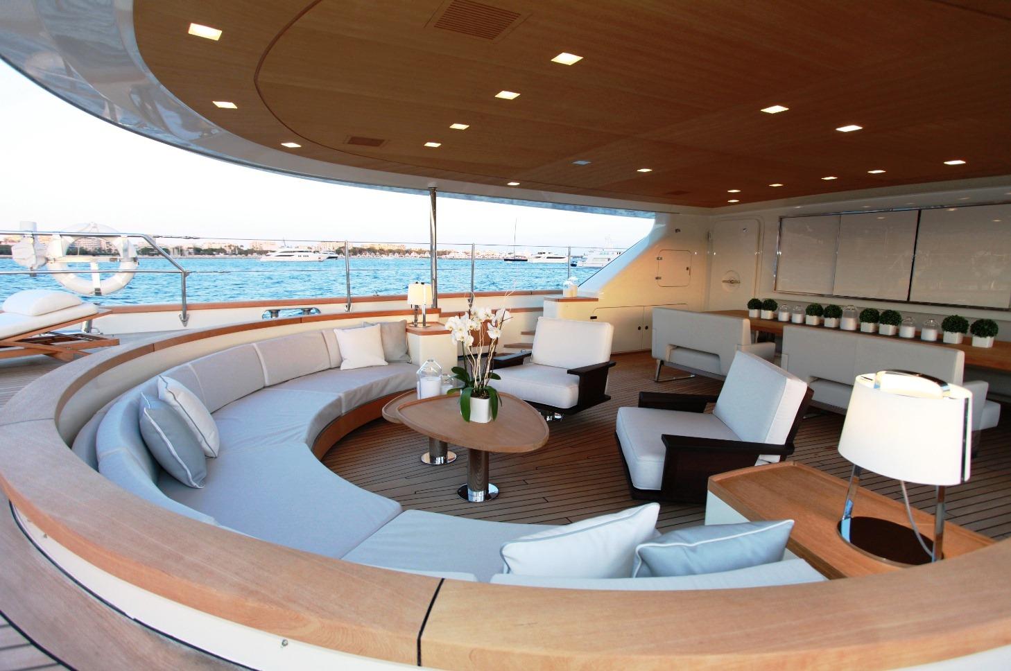 SILENCIO Yacht Aft Deck Seating Yacht Charter