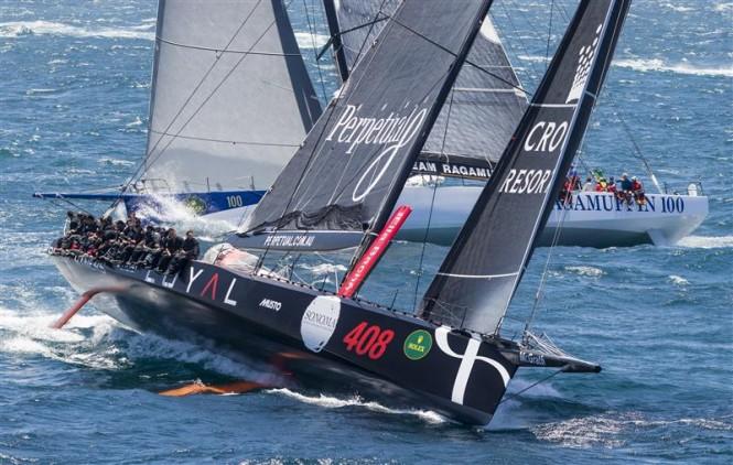 Rolex Sydney Hobart Yacht Race 2014 100ft Sailing Yacht